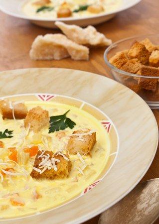 Рецепт фасолевого супа-пюре с чесноком