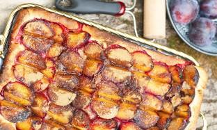 Рецепт вкусного пирога со сливами