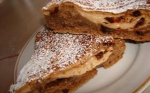 Рецепт шоколадного кекса с творожной начинкой