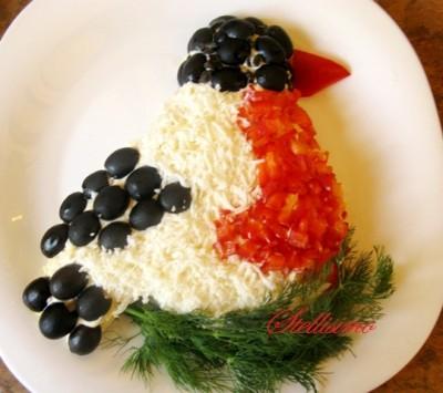 """Рецепт - Праздничный салат """"Снегирь"""""""