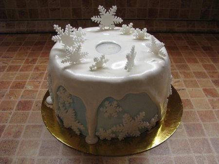 """Рецепт  - Зимний ароматный торт """" Новогодняя сказка"""""""