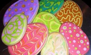 Рецепт разноцветного печенья