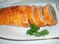 Рецепт слоеного мясного рулета