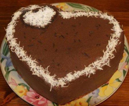 Рецепт торта  «Сметанник» в виде  сердца