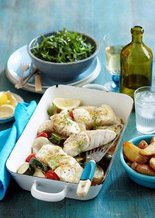 Рецепт белой рыбы, запеченной с фенхелем