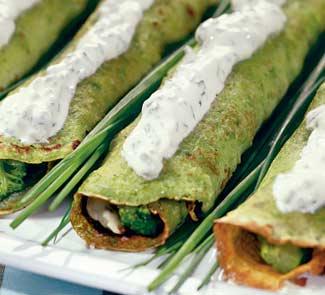 Рецепт - Вкусные зеленые блины на Масленицу