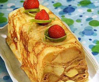 Рецепт яблочно – блинного тортика