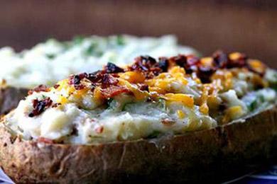 Рецепт дважды запеченного картофеля с начинкой