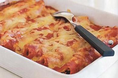 Рецепт каннеллони с сыром и шпинатом