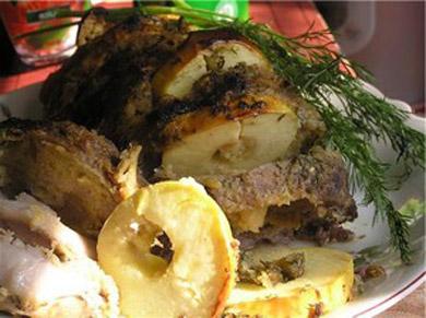 Рецепт - Свинина с медом и розмарином