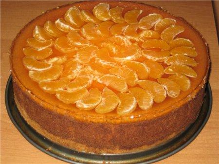 Рецепт сырного  мандаринного пирога