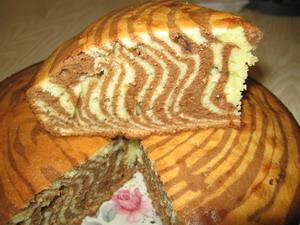 Рецепт торта «Зебра»