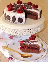 Рецепт шоколадно – брусничного торта