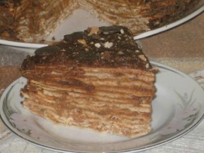 """Рецепт орехового торта с шоколадным кремом """"Капучино"""""""
