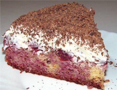 Рецепт цугского  вишневого торта