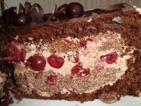 Рецепт торта «Пьяная вишня»