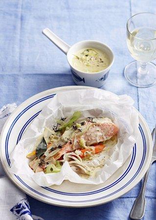 Рецепт лосося в конверте