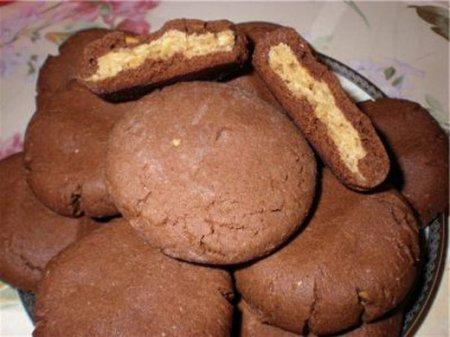 Рецепт - Шоколадное печенье «Magic middles»