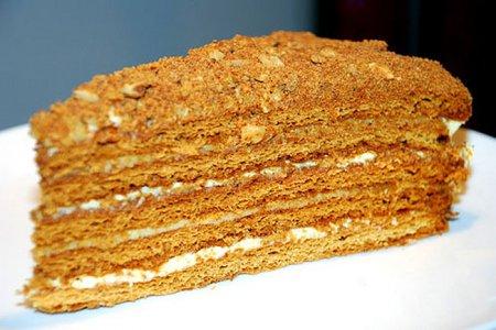 Рецепт медового торта «Рыжик»