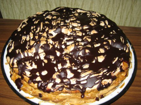 Рецепт торта «Воздушный сникерс»