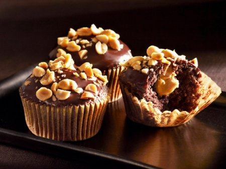 Рецепт шоколадных кексов с арахисовым кремом