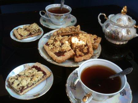 Венское печенье с малиновым джемом