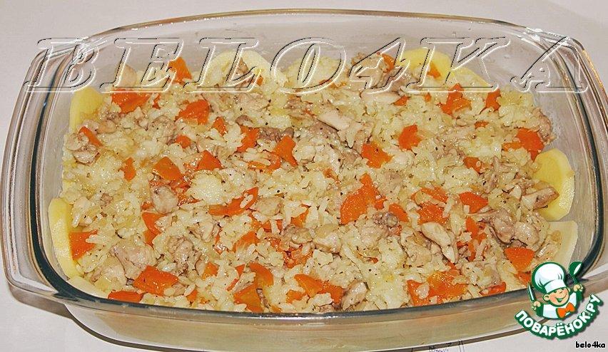 Запеканка рисово-картофельная с курицей