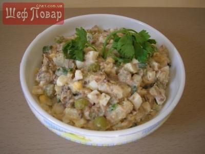 салат рецепт рис яйцо лосось