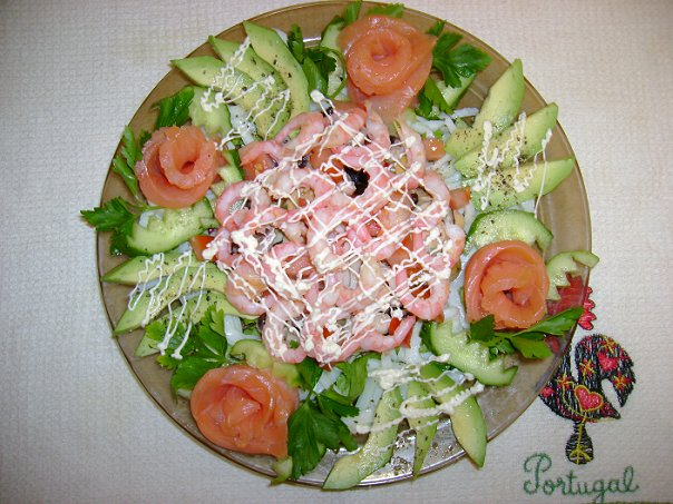 Салат «Розы моря»