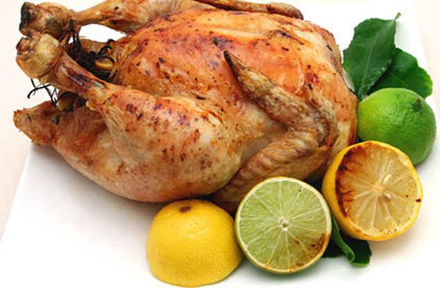 Курица, налитая яйцами