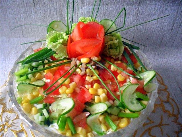 Красочные салаты с фото