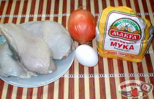 Куриные окорочка с тестом