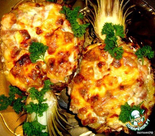 Фаршированный ананас рецепт91