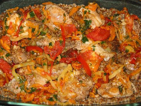 Куриные ножки с овощами в духовке рецепт пошагово