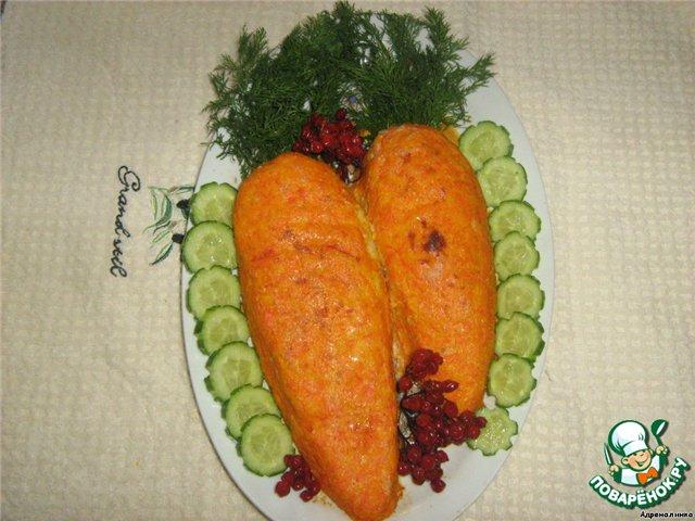 """Рулет """"Любовь-Морковь"""" – кулинарный рецепт"""
