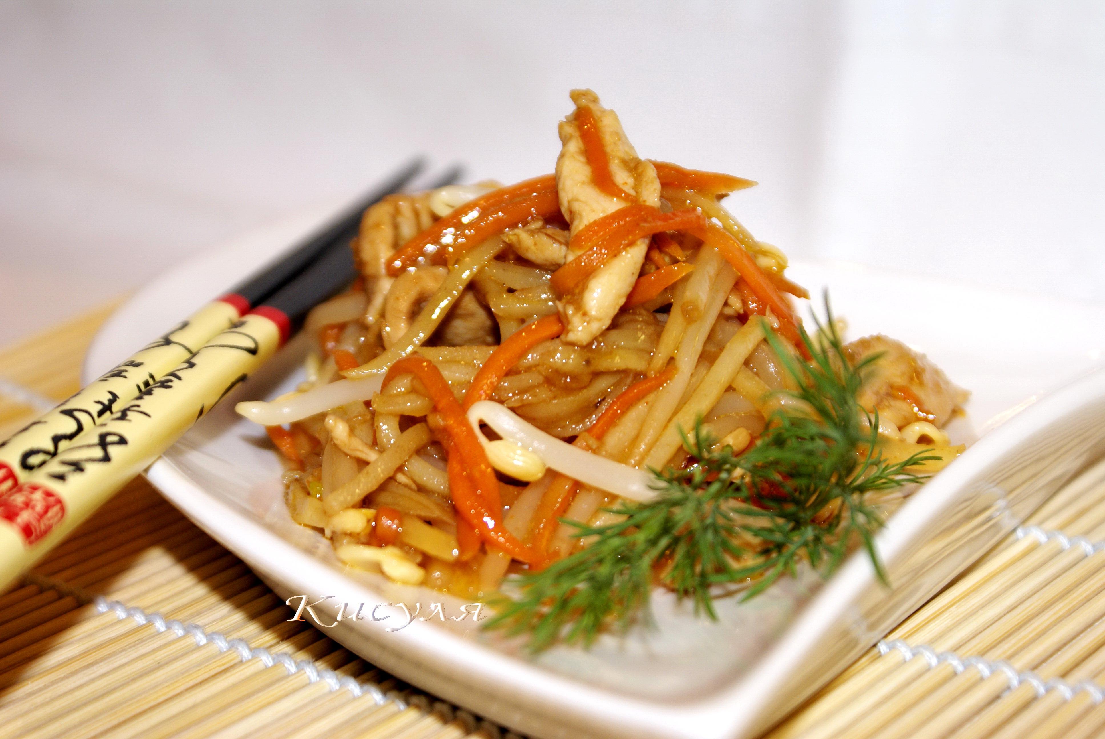 Салат с курицей в китайском стиле