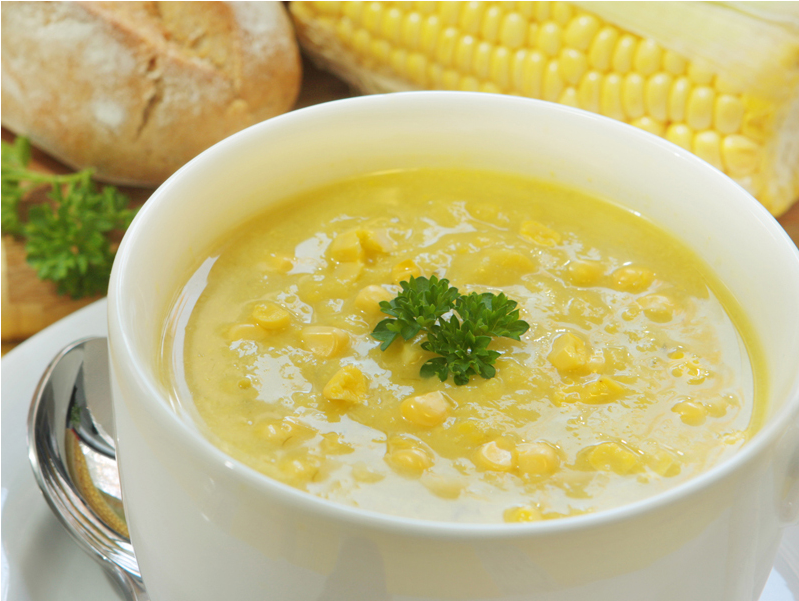 Китайский суп из курицы с кукурузой