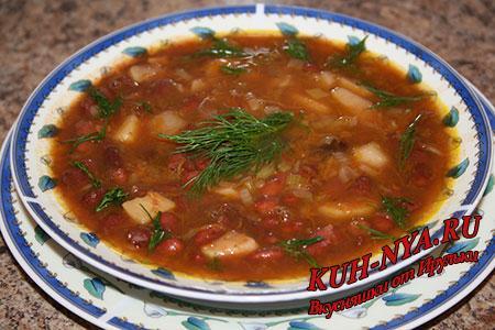 суп из свежей красной фасоли рецепт