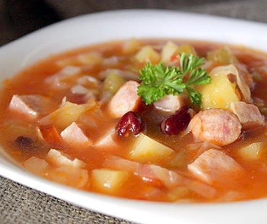 суп с колбасками рецепт с фото