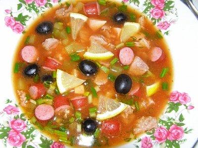 Суп солянка вкусные рецепты 2015 с
