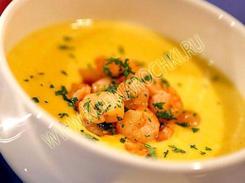суп с креветками рецепты