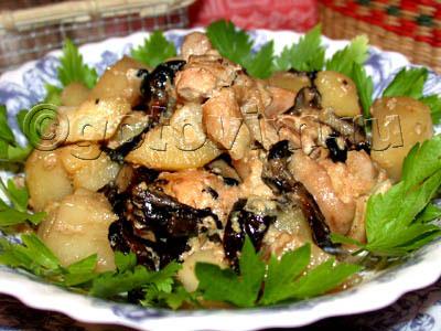 Сальвадорская курица с шампиньонами – кулинарный рецепт