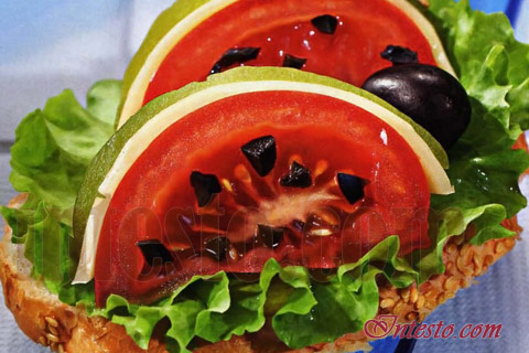 Бутерброд 'Арбузный ломтик'