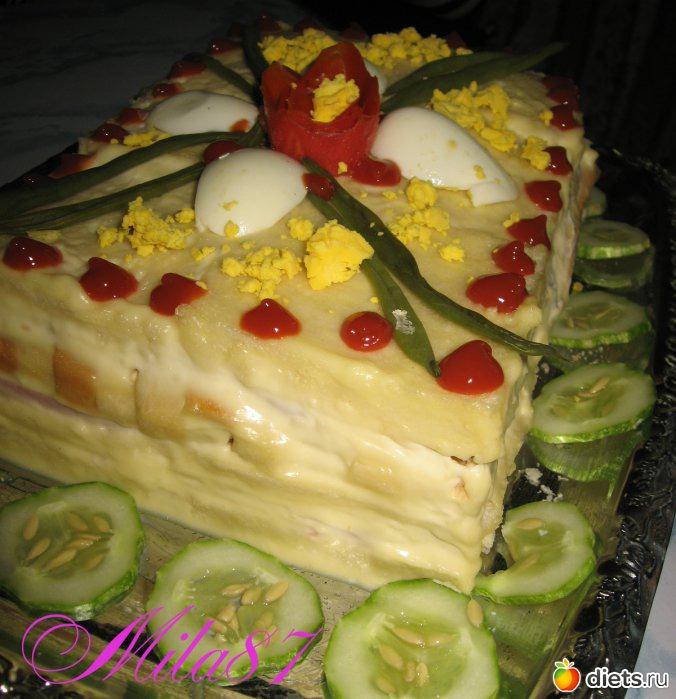 Торт закусочный 'Завтрак в постели... '