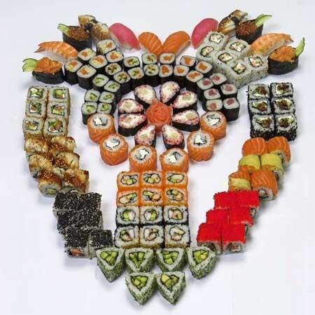 Фото суши роллы и пиво - 38