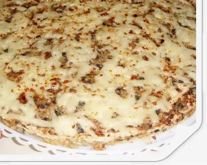 Торт закусочный вафельный (с грибами и курицей)
