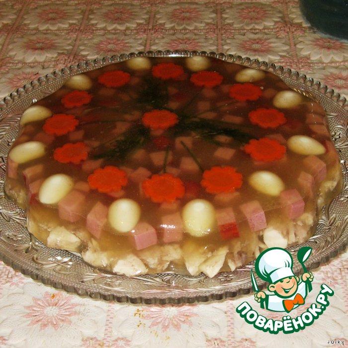 """Рождественское заливное без желатина """"Рыбное ассорти"""" – кулинарный рецепт"""