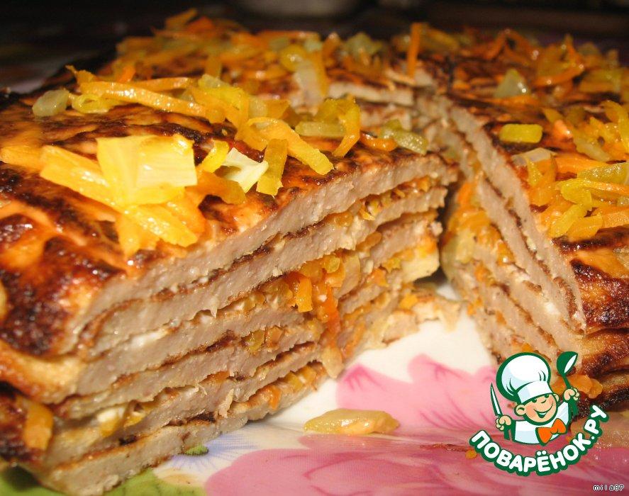 Закусочный тортик 'Мясное облачко... '