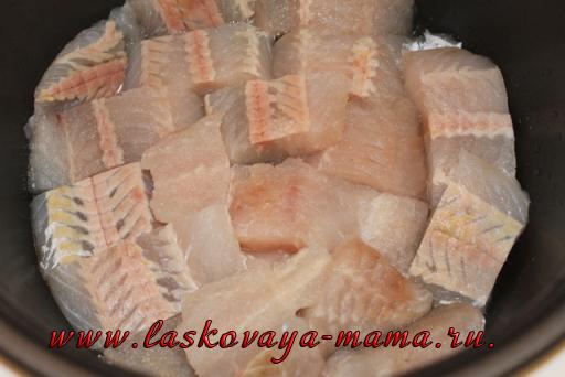 Тушеная рыба в мультиварке редмонд рецепт