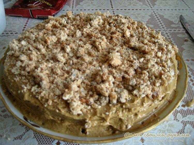сладкий торт на скорую руку рецепты с фото
